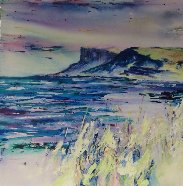 """Fair Head Ballycastle""  70 x 70 cms."
