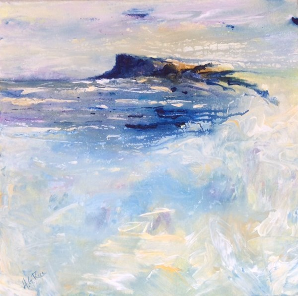 """Fair Head North Antrim""  40x40 cms.  Available at The Battletown Gallery, N.I."